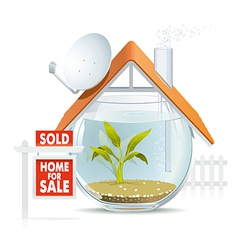 Aquarium home sold vector