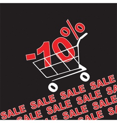 Big sale 10 percentage discount vector