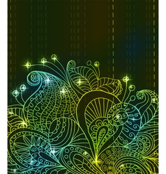 flower green light ornament vector image