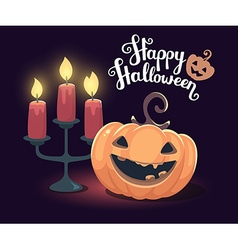 Halloween of decorative orange pumpkin with vector