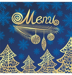 Winter menu vector