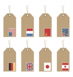 tags with flags vector image