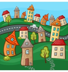 Suburbs and houses vector
