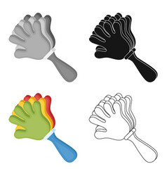 attribute of the fan in the form of a handfans vector image