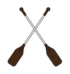 team canoes flat vector image
