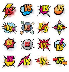 Battle competition versus logos set vs vector