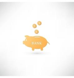 Piggy bank icpn vector image