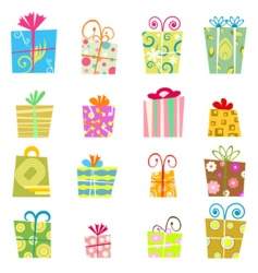 Cute gift boxes vector