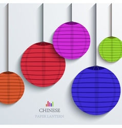 Modern chinese paper lantern background vector