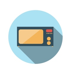 Flat design concept microwave with long shad vector