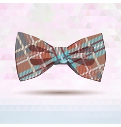 Tartan bow-tie in pastel colors vector