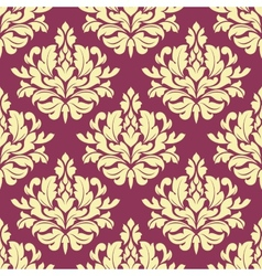 Vintage purple damask design vector