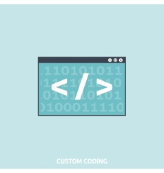 Custom coding vector