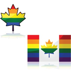 Canada rainbow vector image