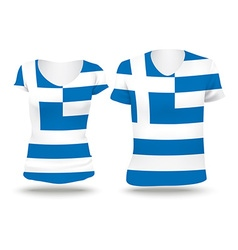 Flag shirt design of greece vector