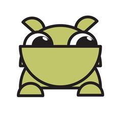 dog bulldog mascot vector image