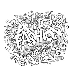 Fashion hand lettering and doodles elements vector
