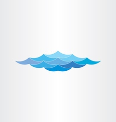 Abstract blue water waves sea or ocean vector