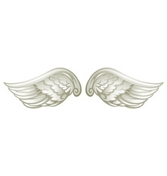 Pair of white wings vector