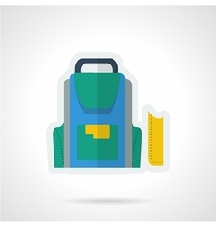 School accessories flat icon vector