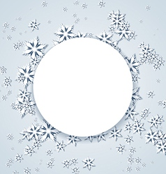 Christmas Frame with Snowflakes vector image