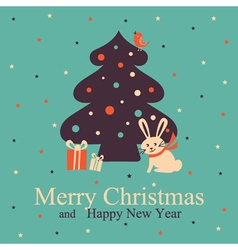 Christmas and new year greeting vector