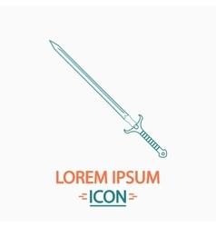 Sword computer symbol vector