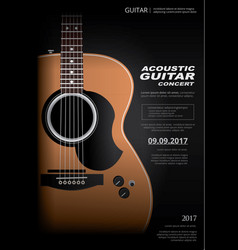 acoustic guitar concert poster vector image
