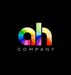 ah a h alphabet letter mosaic design vector image vector image