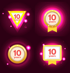 anniversary ten logo set vector image