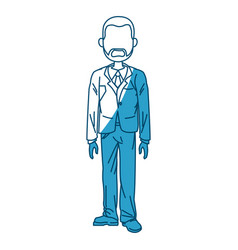 Beard business man standing with suit vector