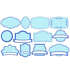 blue labels vector image