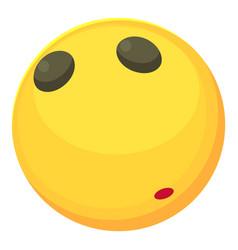 Calm smiley icon cartoon style vector
