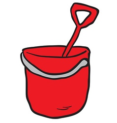 cartoon bucket and spade vector image