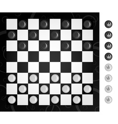 Checkers and board vector