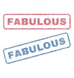 Fabulous textile stamps vector