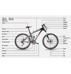 Full suspension mtb scheme vector