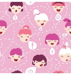 Girls talking seamless pattern background vector image vector image