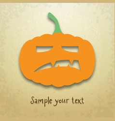halloween card with angry pumpkin vector image