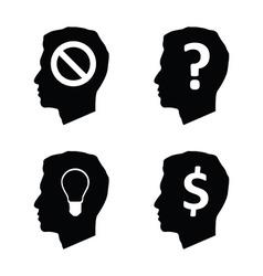 Head brain think vector image