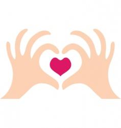 heart hands vector image vector image