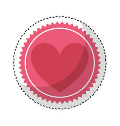 heart love romantic card vector image