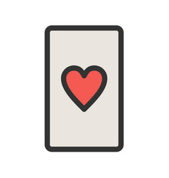 Hearts card vector
