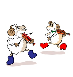 lambs are musicians vector image vector image