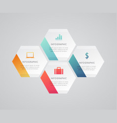 modern business infographic vector image vector image