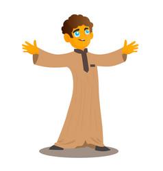 muslim kid vector image