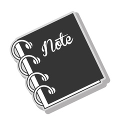 Notebook note diary vector