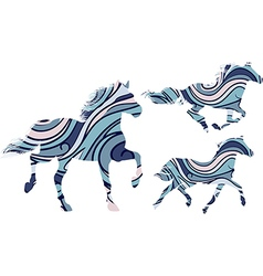 Patterned horses vector