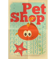 pet shop poster fish vector image