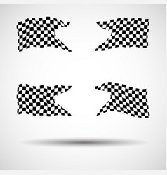 Racing background set collection of 4 checkered vector